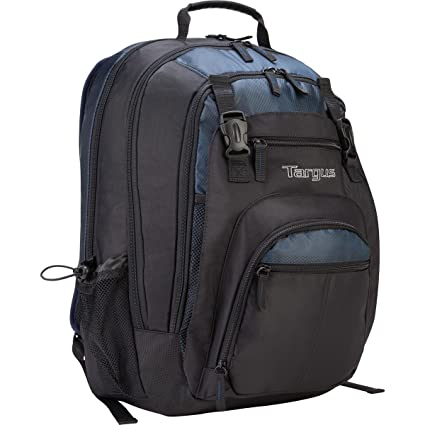 7f1b83bf1e2 Amazon.com: Targus XL Backpack for 17-Inch Laptops, Black with Blue Accents  (TXL617): Electronics