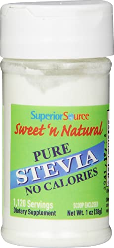 Superior Source Sweet N Natural Stevia Pure Nutritional Supplements Powder