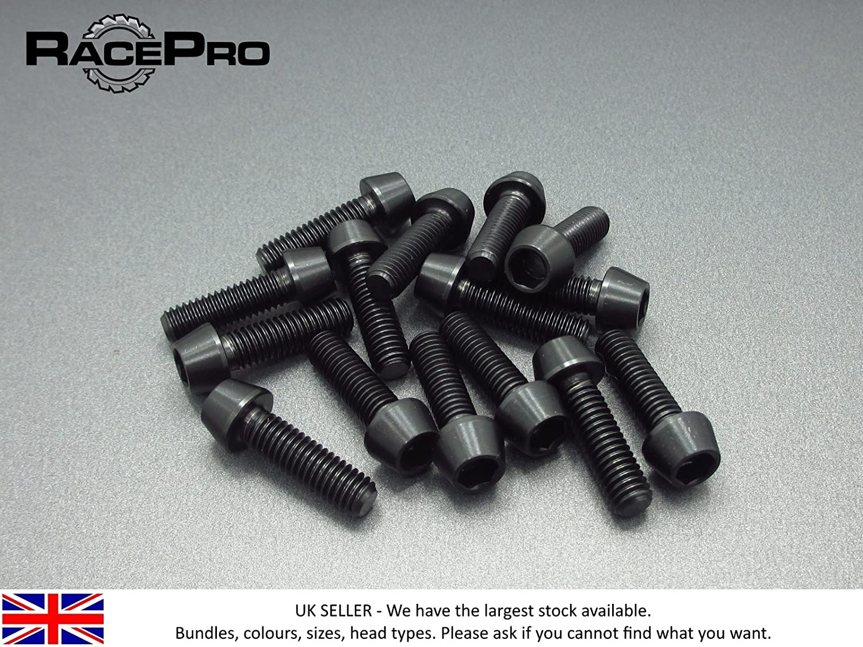 M7 x 30mm x 1mm Black RacePro 4x Titanium Parallel Socket Bolt Torx