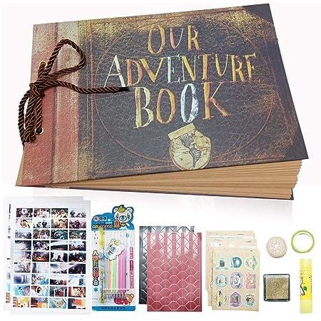 GRT Nuestro libro de aventuras nueva versión de parachoques estéreo de tapa dura a mano álbumes bricolaje para cumpleaños bodas aniversarios de niños ...