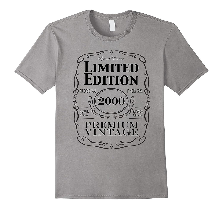 17th Birthday Gift T-Shirt - Born in 2000 Turning 17 Shirt-PL