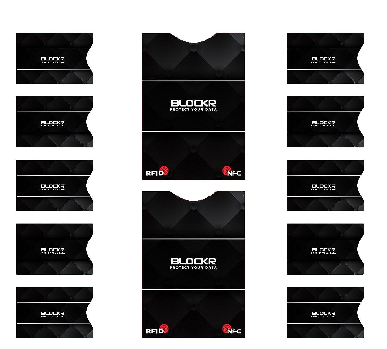 Blockr, RFID de haute qualité et bloqueur NFC (10 + 2) pour 10 cartes bancaires et deux passeports