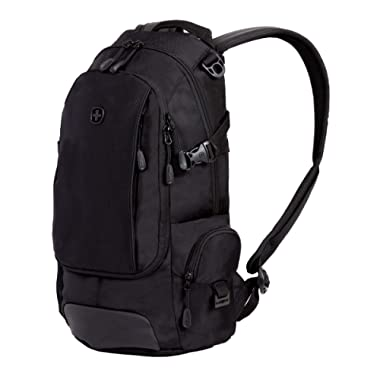 SWISSGEAR Compact Organizer Backpack | Narrow Profile Daypack| Men's and Women's - Black