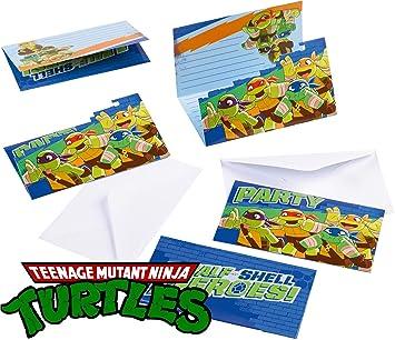 amscan Teenage Mutant Ninja Turtles 16 Piece Invitation Set ...