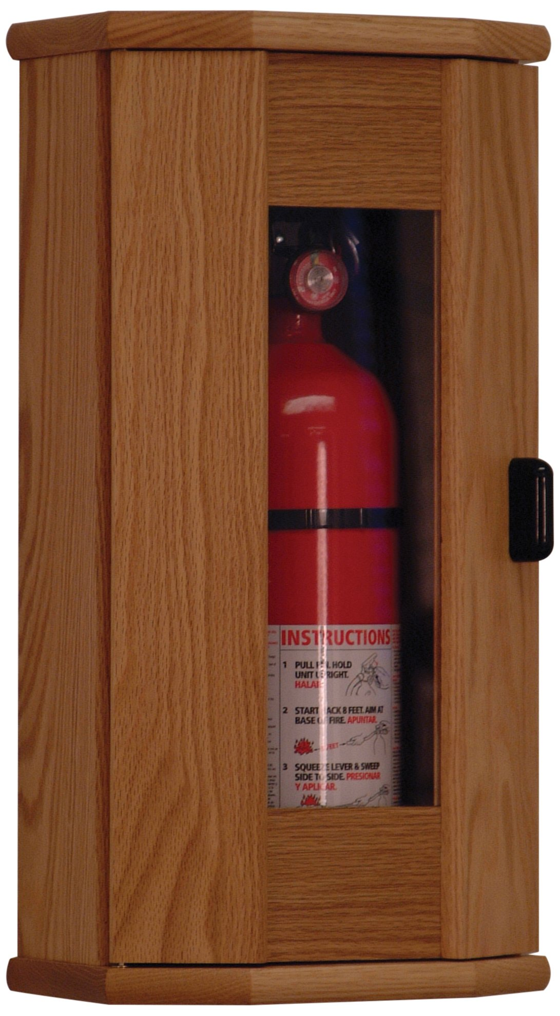 Wooden Mallet Fire Extinguisher Cabinet, 10-Pound, Light Oak/Acrylic by Wooden Mallet (Image #1)