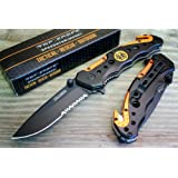 Amazon Price History for:TAC-FORCE Spring Assisted Opening EMT EMS ORANGE Rescue Folding Pocket Knife
