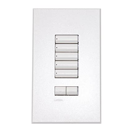 Lutron SeeTouch QS Series QSWS2R-5BRLN-WH 5 Button Touchpad Keypad ...