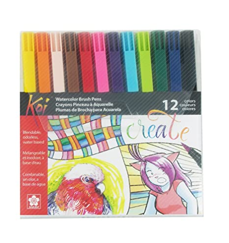 Koi Coloring Brush Pens 12/Pkg-Assorted: Amazon.co.uk: Kitchen & Home
