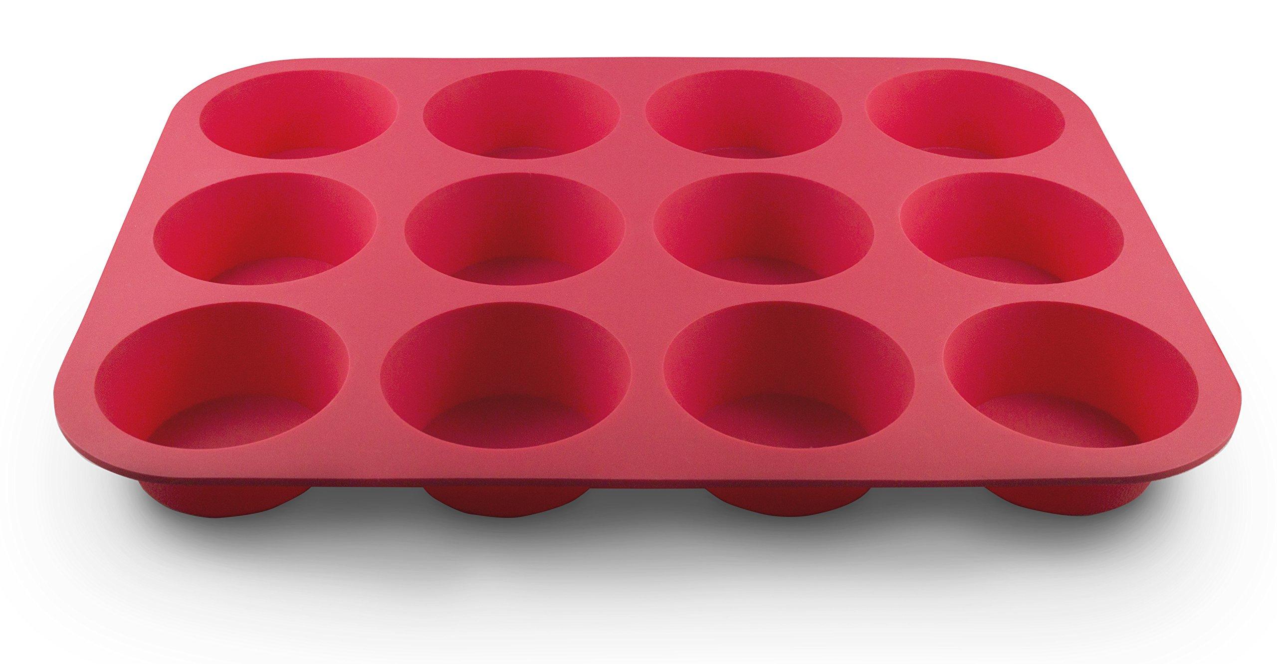 Grazia Silicone Muffin Pan, Red, 12-Cup by Grazia (Image #9)