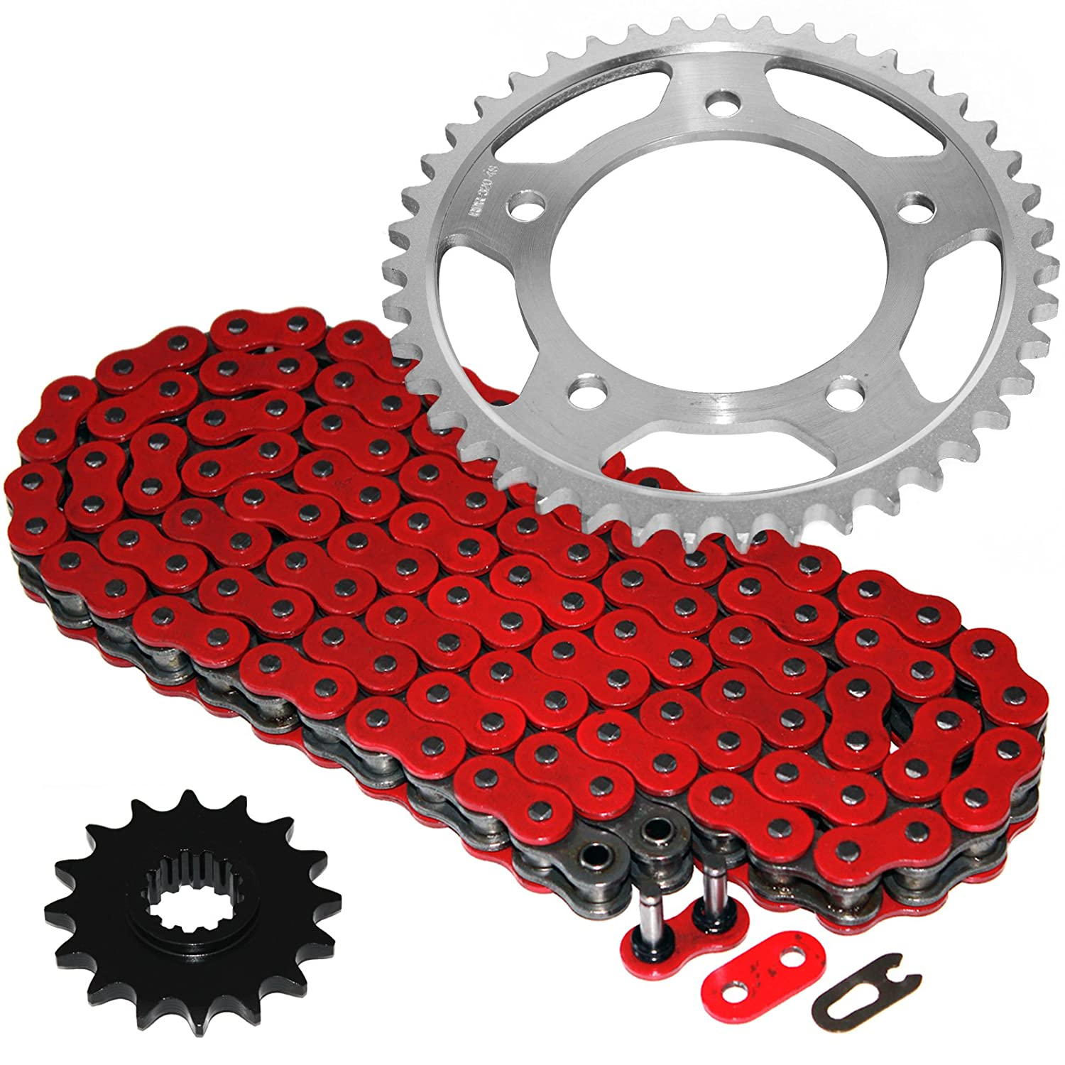 Caltric Red O-Ring Drive Chain /& Sprockets Kit Fits HONDA 900RR CBR900RR CBR-900RR 1996-1999
