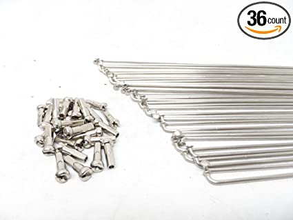 14G Stainless Steel CHOOSE YOUR LENGTH Bicycle Spokes /& Nipples SILVER