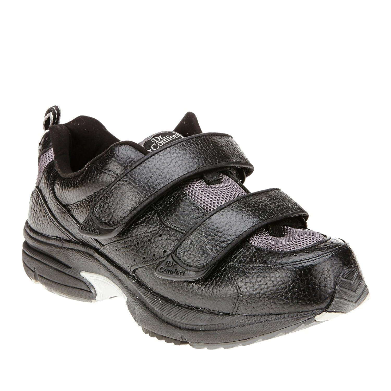 Dr. Comfort Winner X Hook-and-Loop Slip-On Shoes 10.5 6E US|Black