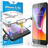 iPhone 6/6s Screen Protector [2-Pack] Premium Tempered Glass Screen Protectors with Easy App Install Kit for Apple iPhone6/iPhone6s by Power Theory