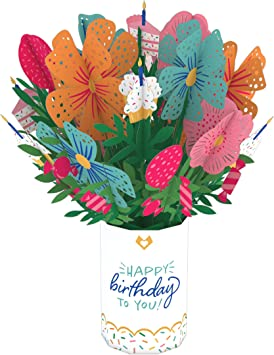 Amazon Com Lovepop Birthday Flower Bouquet 3d Card Birthday Bouquet Flower Bouquet Card Pop Up Bouquet Floral Birthday Card Pop Up Birthday Card Office Products