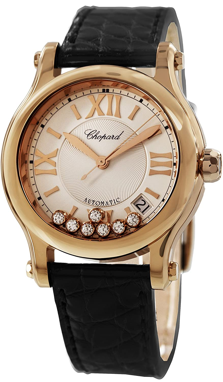 Chopard Happy Sport Women's Rose Gold Diamond Watch 274808-5001