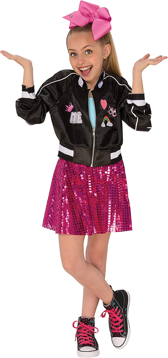 Rubie's JoJo Siwa Bomber Jacket with Skirt and Bow, Medium