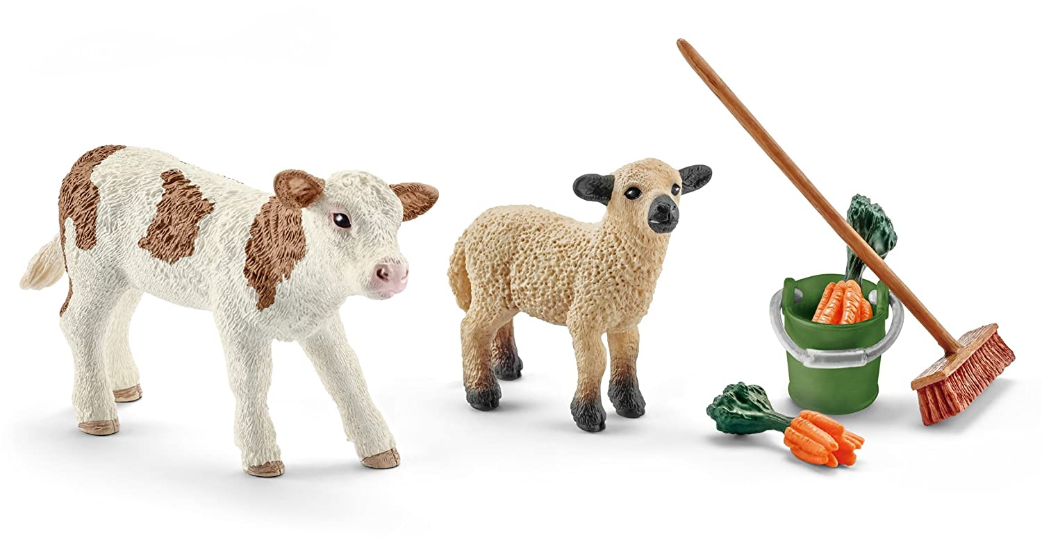 Schleich North America Stable Cleaning Kit with Calf /& Lamb 41422