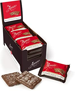 product image for Asher's Chocolates, Gourmet Chocolate Covered Graham Crackers, 2 Packs of Sweet and Salty Candies , Small Batches of Kosher Chocolate, Family Owned Since 1892 (30 Count, Milk Chocolate)