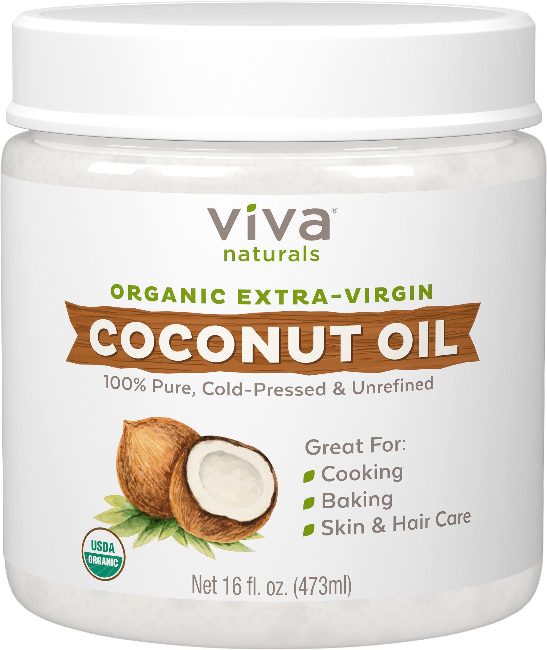 Viva Naturals Organic Extra Virgin Coconut Oil, 16 Ounce by Viva Naturals