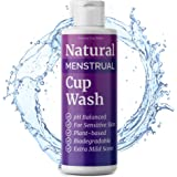 Plant-Based Natural Menstrual Cup Wash for Sensitive Skin, pH Balanced Menstrual Cup Cleaner Specially Formulated for Use in Reusable Silicone Menstruation Cups