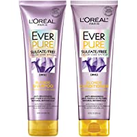 L'Oréal Paris Hair Care EverPure Blonde Sulfate Free Shampoo & Conditioner Kit for...