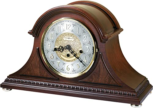 Howard Miller Barrett Mantel Clock 630-200 Windsor Cherry, Key Wound Single Chime Movement