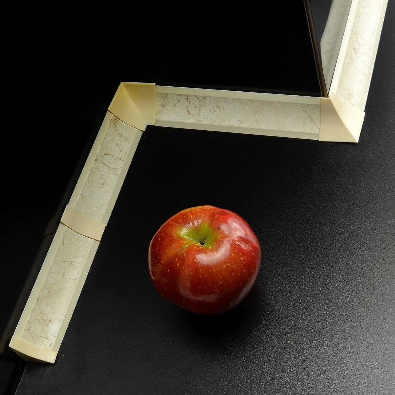 2 x Verbinder 3,0m WINKELLEISTEN 23mm Wei/ß SET 3m Abschlussleiste mit Gummilippen oder Zubeh/ör 2 x innenecke 2 x Aussenecke 2 x Endst/ück