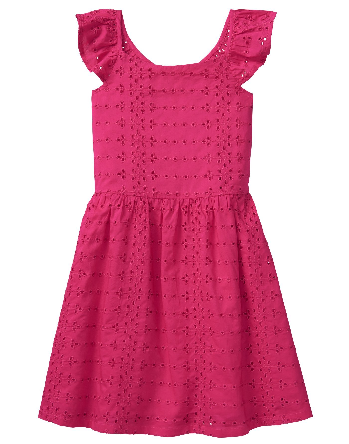 Crazy 8 Little Girls' Eyelet Dress, Bright Rose, 6