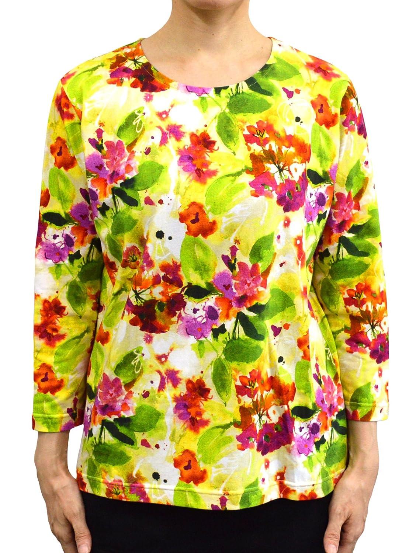 ジムトンプソン 7分袖 Tシャツ フラワー柄 L JMTSLFH5878A6 JMTSLFH5878A6 B01KHGGRDK