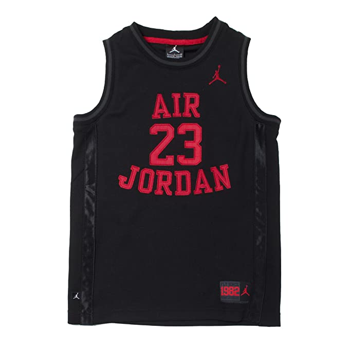 the best attitude 5eeeb 4849e Nike Jordan Boys Youth Classic Mesh Jersey Shirt (Black/Red, XL(13-15YRS))