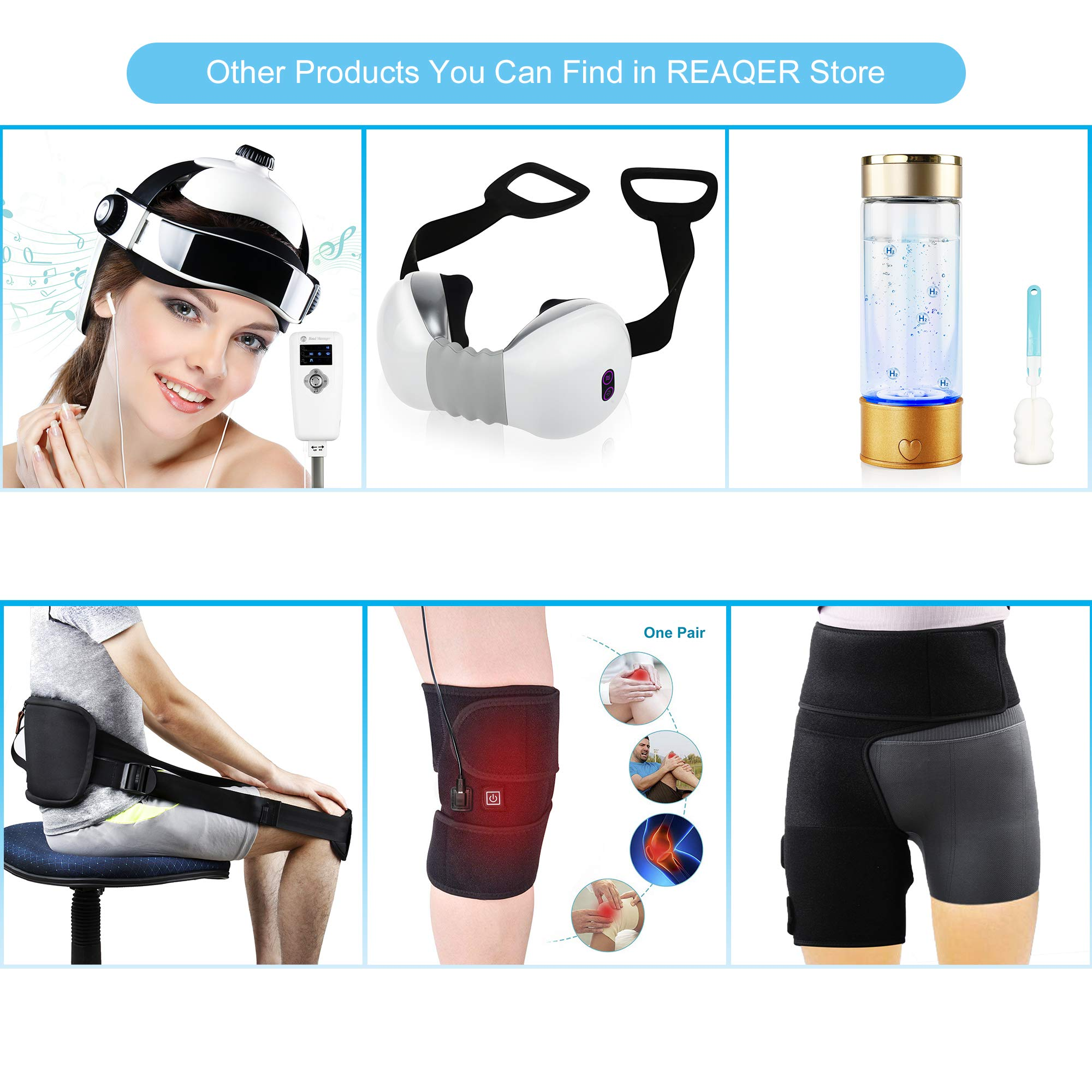 REAQER Electric Head Massager Multifunctional Massage Helmet with Soothing Music and Air Pressure to Relax and Relieve The Headache by REAQER (Image #6)