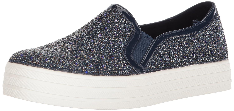 Skechers Women's Double up-Glitzy Gal Sneaker B0787N676T 5 B(M) US|Nvy