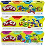 Play-Doh 4-Pack of Colors 16oz Gift Set Bundle (12 Cans & 48oz Total) - 3 Pack