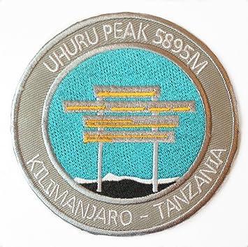 """Parche bordado para planchar, """"Uhuru Peak, Kilimanjaro, Tanzanía"""""""