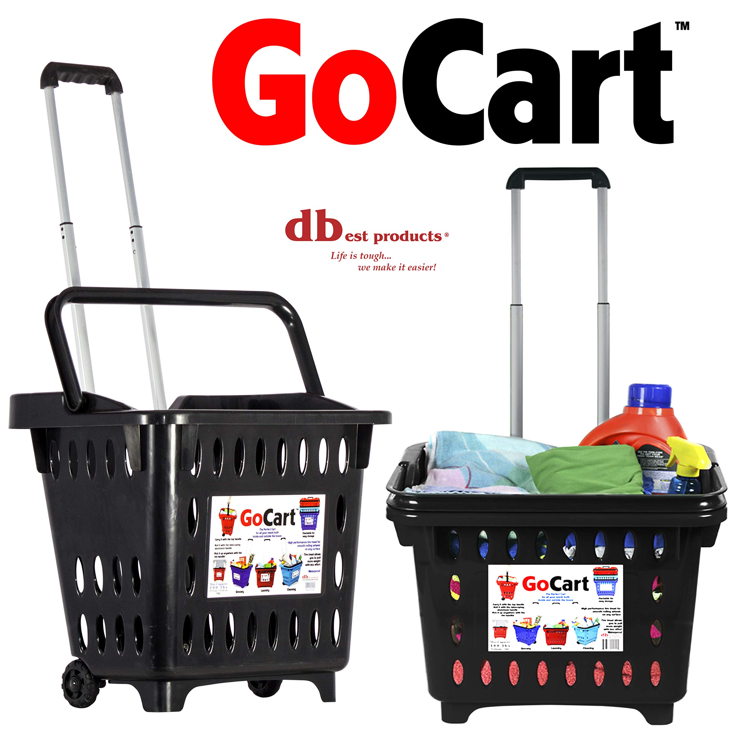 dbest products GoCart, Black Grocery Cart