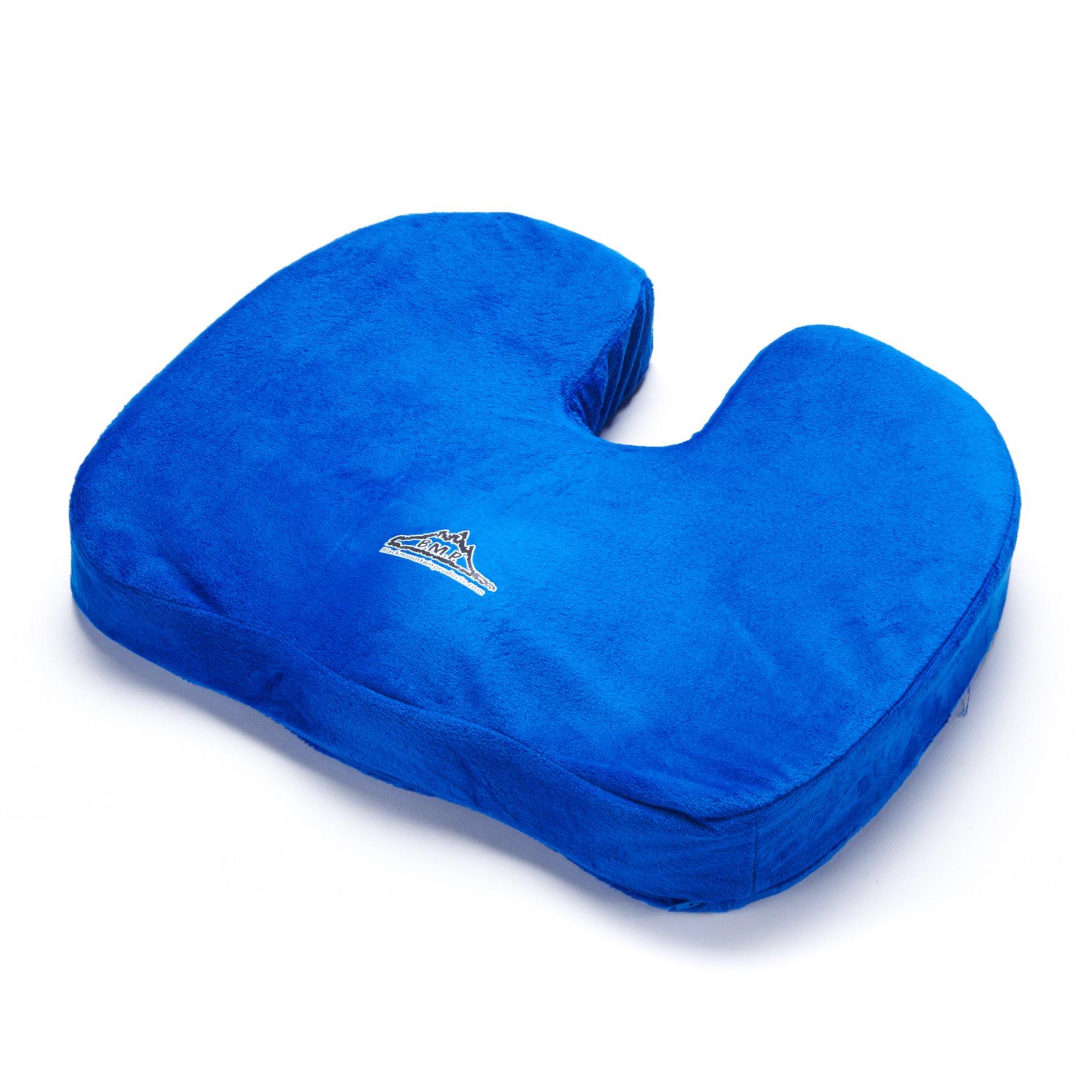 Black Mountain Products Orthopedic Comfort & Stadium Seat Cushion, Blue