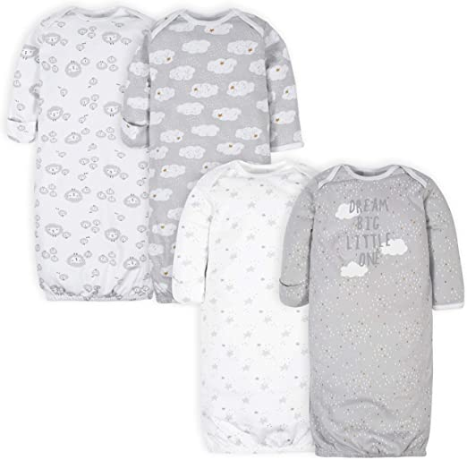 Gerber Baby 4-Pack Gown clothing for infants