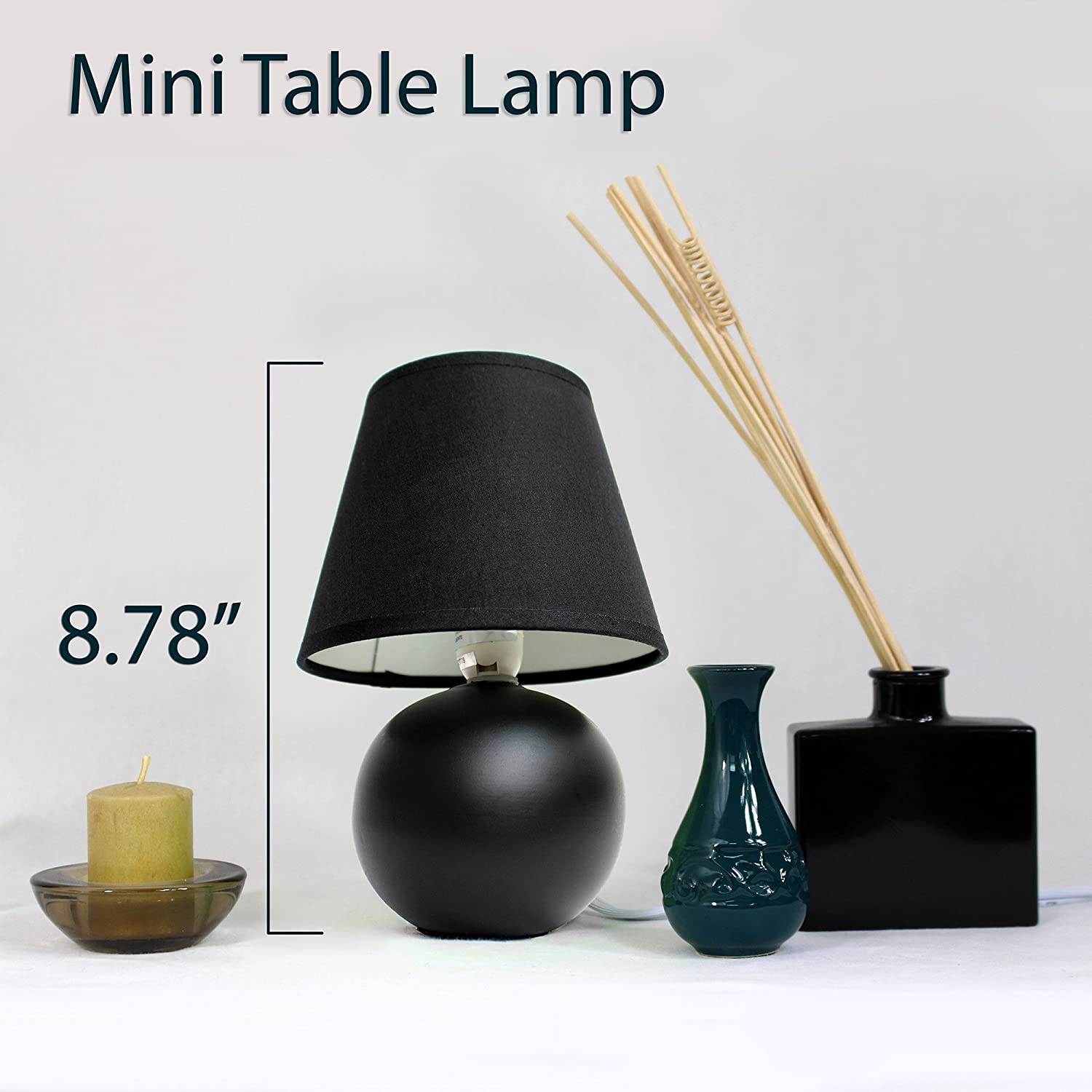 Simple designs lt2008 blk 2pk mini ceramic globe table lamp 2 pack simple designs lt2008 blk 2pk mini ceramic globe table lamp 2 pack set black amazon aloadofball Image collections