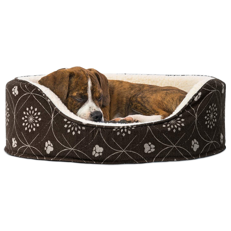 Amazon.com: Cama ovalada para perro o gato Furhaven, S ...