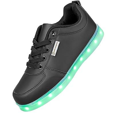 Shinmax Serie de Adultos Zapatillas LED USB de Carga de 7 Colores de Luz Zapatillas con