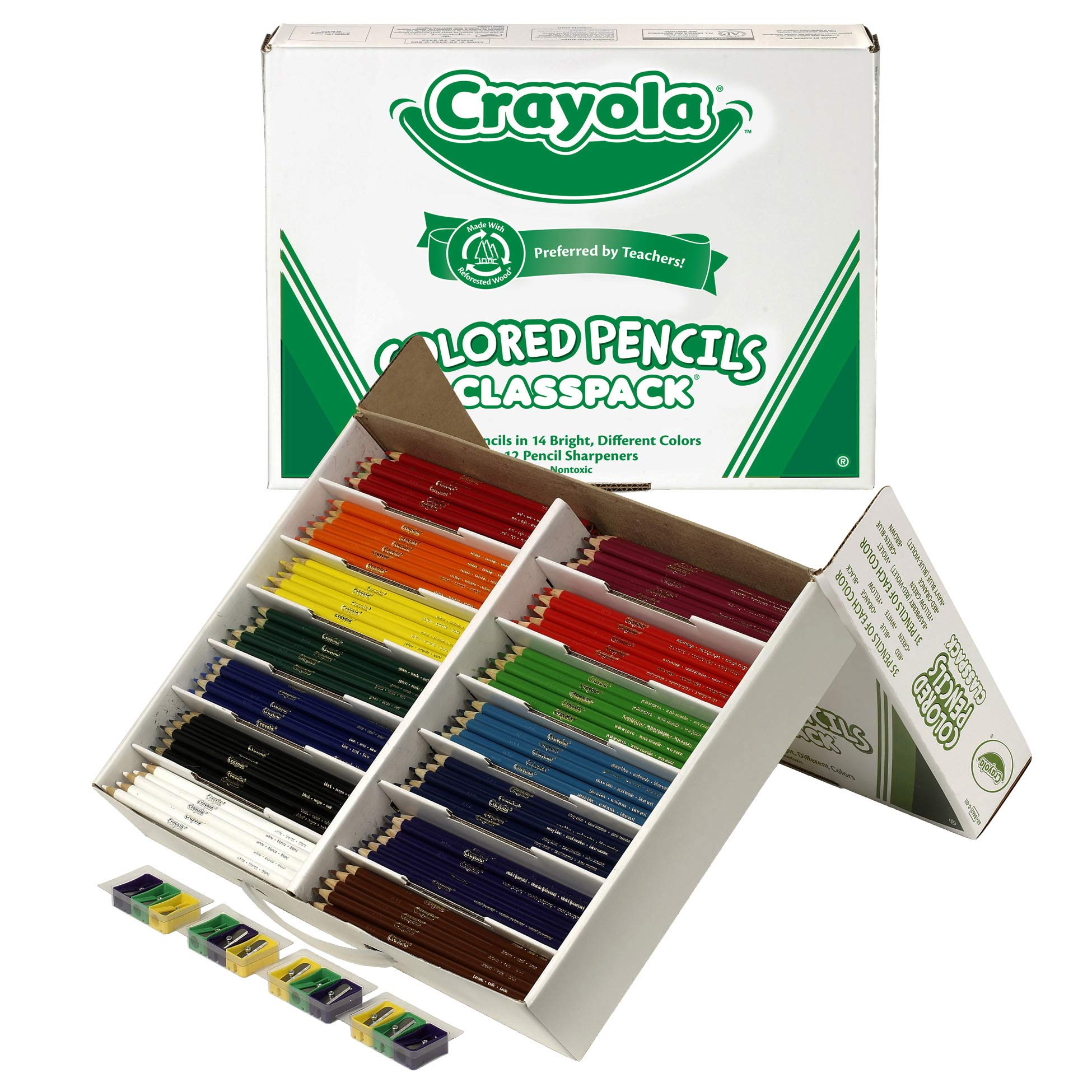 Crayola Colored Pencil Classpack, School Supplies, 14 Assorted Colors, 462 Count