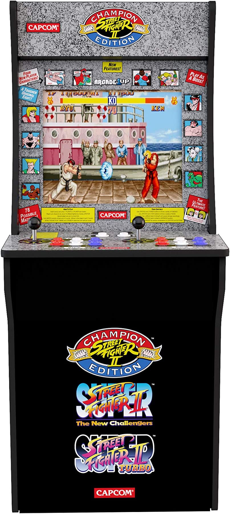 Amazon com: Arcade1Up Street Fighter - Classic 3-in-1 Home