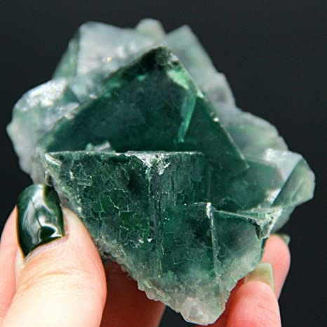 GREEN FLUORITE Healing Crystal wrapped in Aluminum Wire