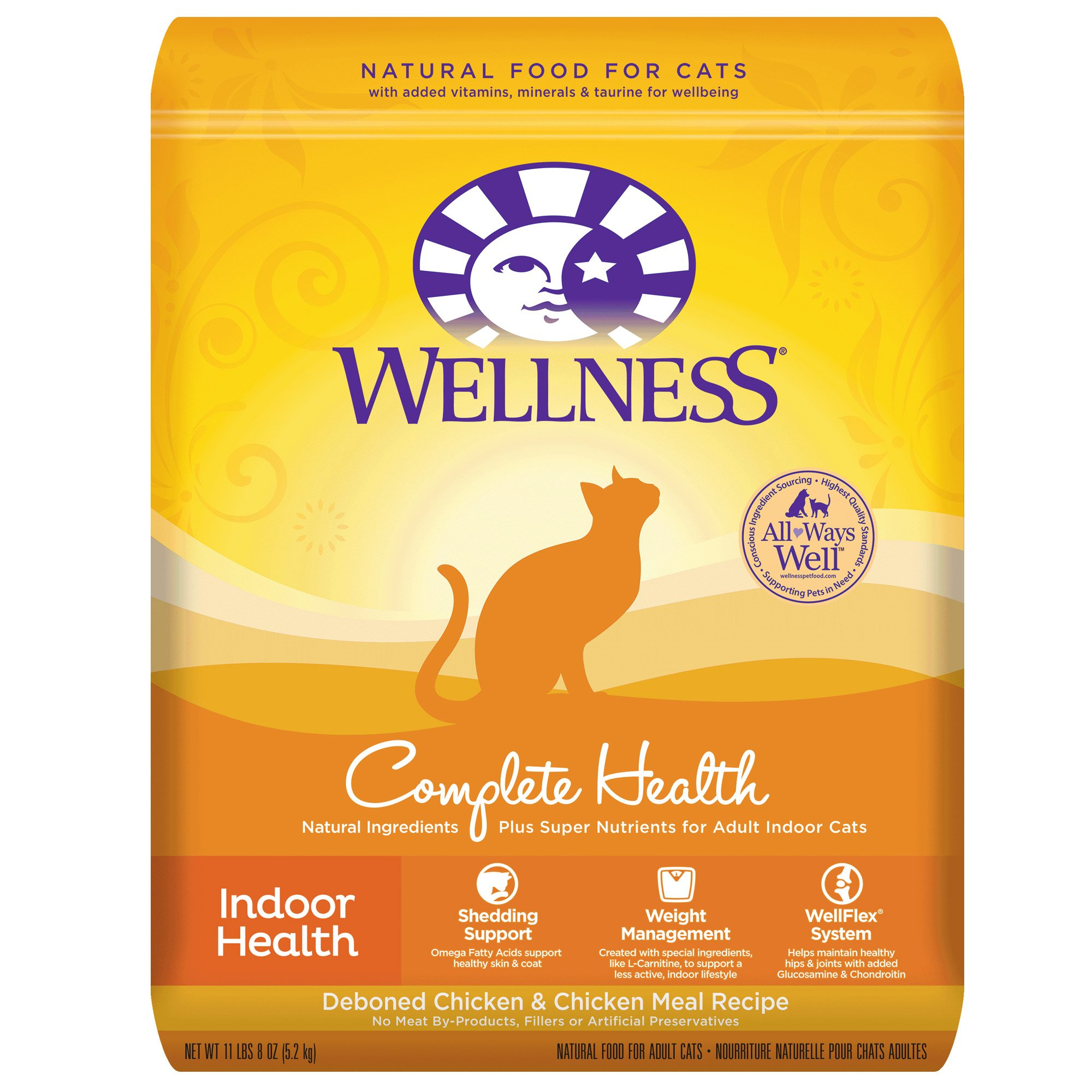 Wellness Complete Health Natural Dry Cat Food Indoor Chicken 11.5-Pound Bag