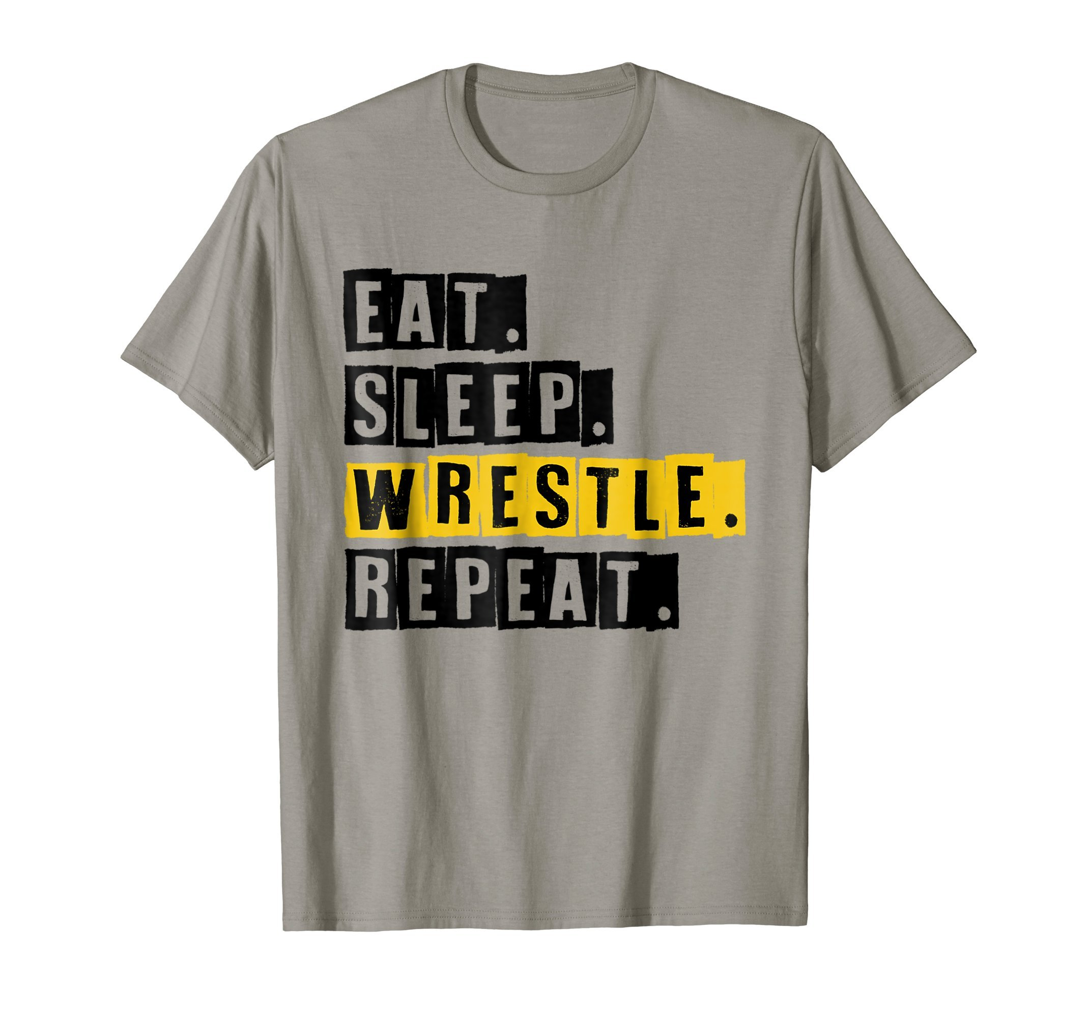 Eat Sleep Wrestle Repeat - Vintage Wrestling Sport T-Shirt