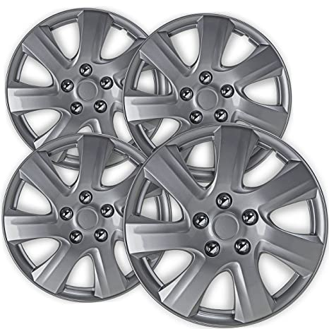 16 inch Hubcaps Best for 2010-2011 Toyota Camry - (Set of 4) Wheel Covers 16in Hub Caps Silver Rim Cover - Car Accessories for 16 inch Wheels - Snap On ...