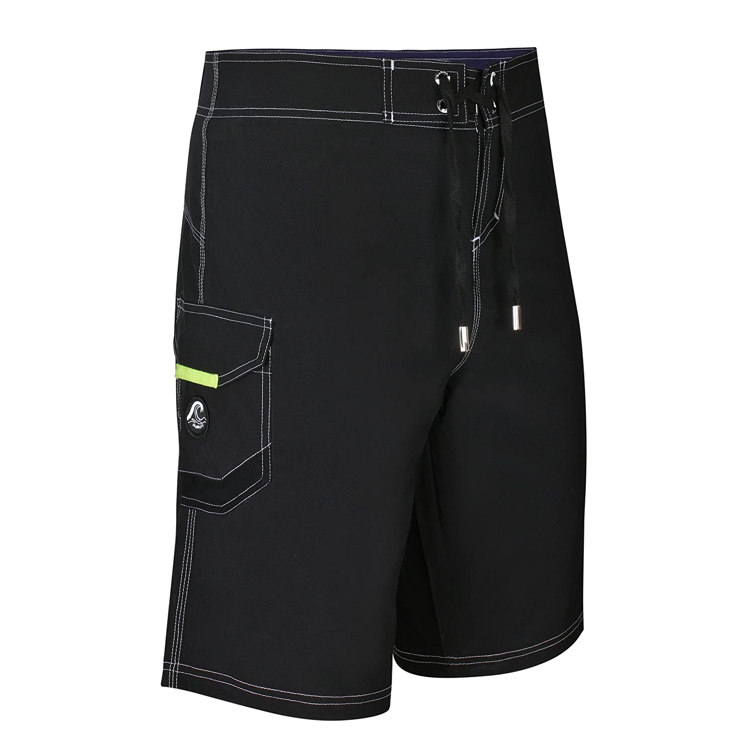 11b53f50a582f NoNetz Men's Anti Chafe Black Men's Boardshorts Prevents The Inner Thigh  Rash Black Large | Amazon.com