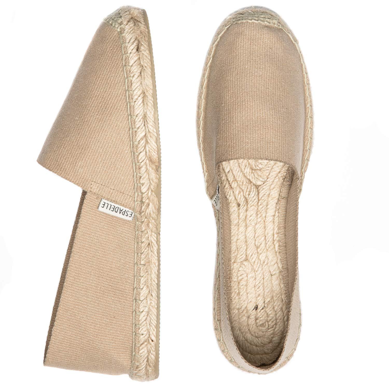 Handmade in Spain ESPADELLE Espadrilles Slip-on Classiques pour Femme en Coton avec Sac en Tissu 36-41