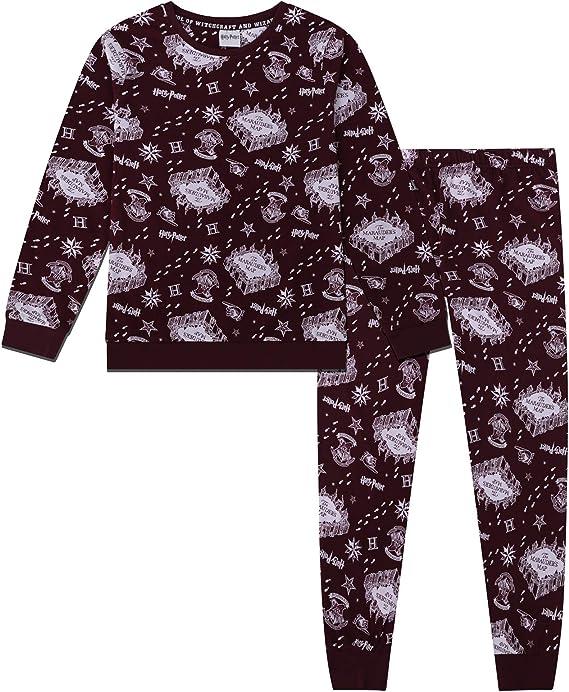 Harry Potter Mapa del Merodeador - Pijama Oficial para niño - Viene en una Caja Regalo: Amazon.es: Ropa y accesorios