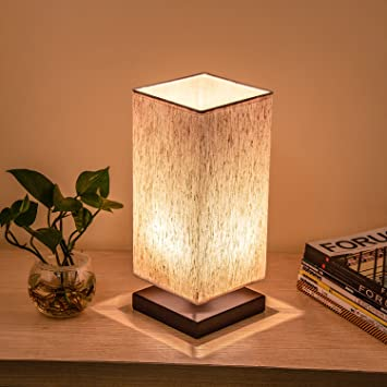 Amazon Com Bedside Table Lamp Teslacom Minimalist Solid Wood Table